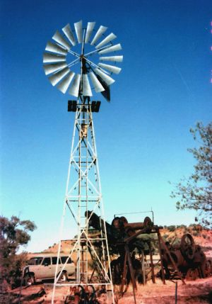 Windmill and bore on the boulder opal fields.JPG